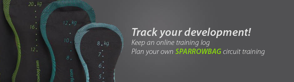 Track your development! Keep an online training log! Plan your own SPARROWBAG circuit training!